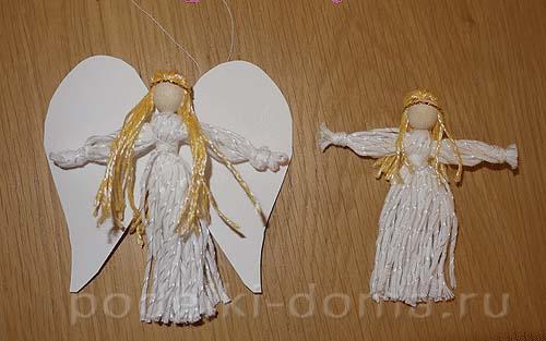 Ангелы своими руками из ниток видео