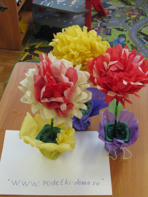 Цветы из бумаги от Татьяны