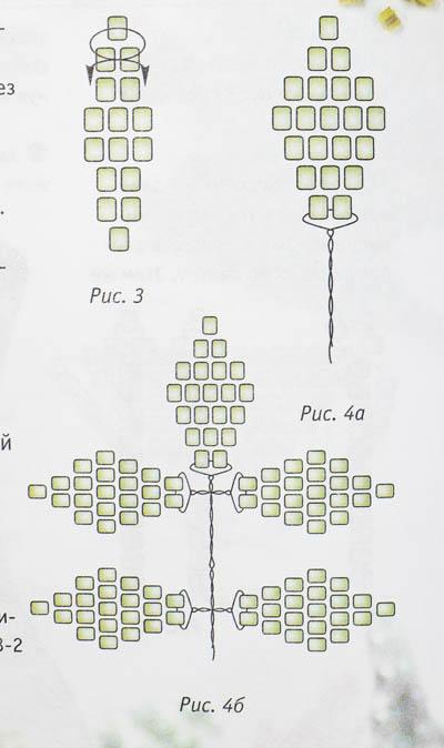 list iz bisera1. лист из бисера - схема.