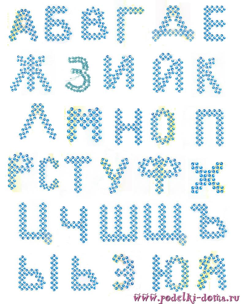 алфавит из бисера