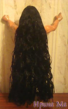 indeec1. кукла индеец.  Как выпрямить волосы кукле.