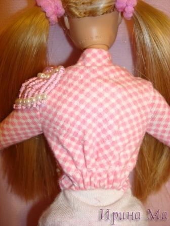 Одежда для кукол. Розовое и белое. Коллекция от Лизы