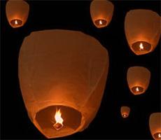 Летающие китайские фонарики своими руками из бумаги