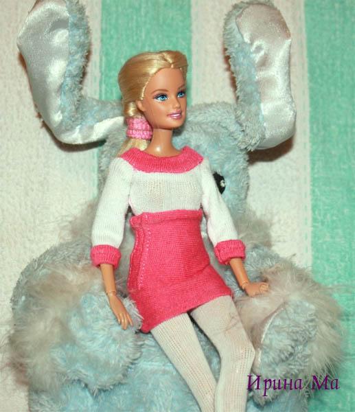 трикотажный костюм для куклы
