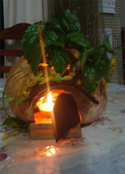 поделка из тыквы - домик