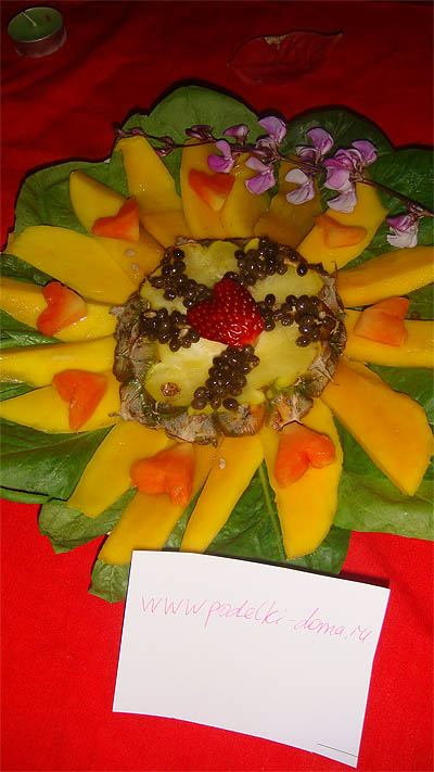 Десерт из манго