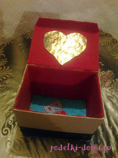 Как сделать шкатулку из коробки из под телефона
