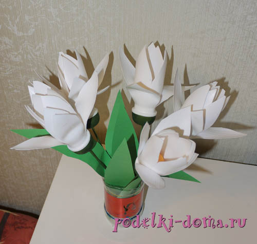 поделки из пластиковых бутылочек - цветы