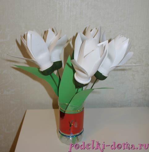 цветочки из пластиковых бутылочек