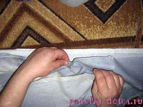 как сшить простынь на резинке
