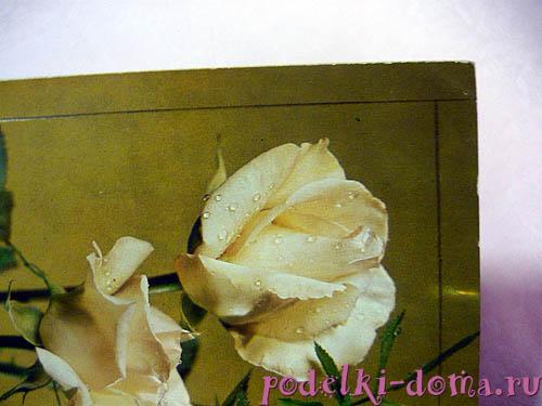 шкатулка из открыток