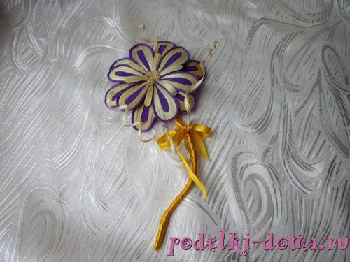 цветок из соломки мастер-класс