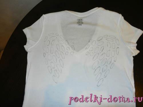 Крылья на футболку своими