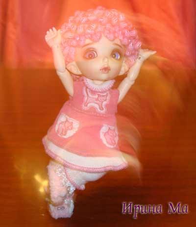 Тапочки для куклы Полины. Мастер-класс Ирины Ма
