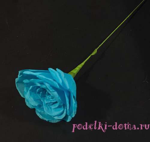 цветок розы из бумаги