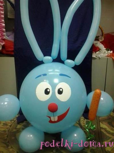 заяц из шаров своими руками пошаговая инструкция - фото 5