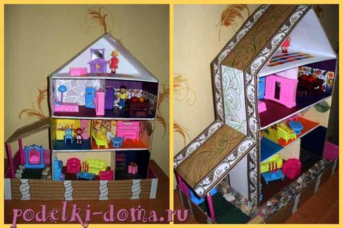 Как сделать из бумаги вещи в дом для кукол