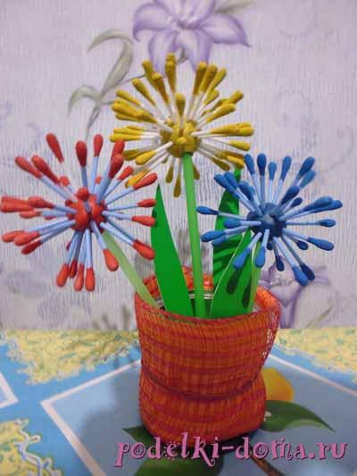 Поделки цветы из подручных средств 8