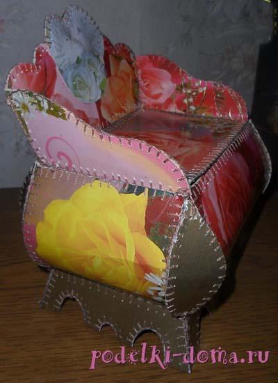 shkatulka iz otkrytok sboku