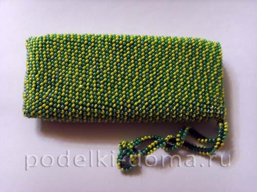 чехол вязание с бисером