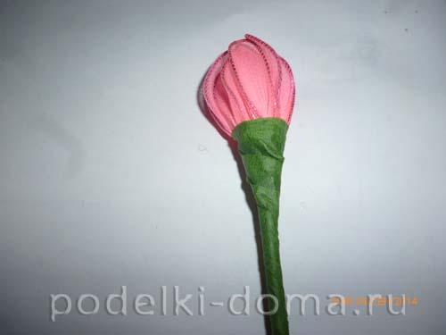 cvetok iz kaprona - hrizantema 4
