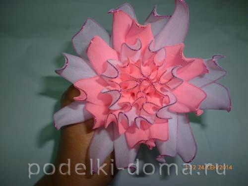 cvetok iz kaprona - hrizantema 6