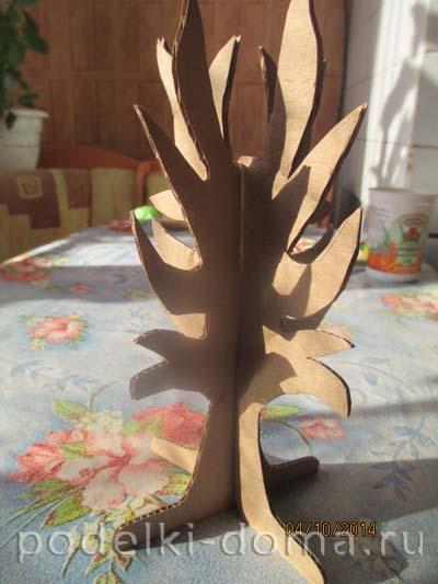 Дерево из картона поделки 79