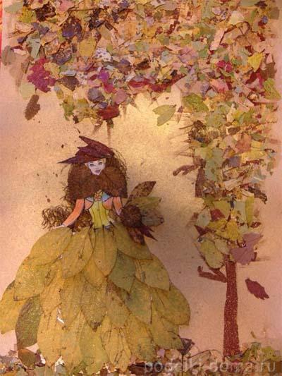 Поделки из листьев или природного материала 99