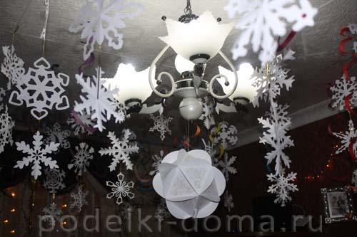 Поделки к новому году гирлянды фонарики