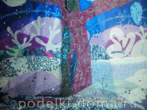kartina iz tkany volshebnica zima13