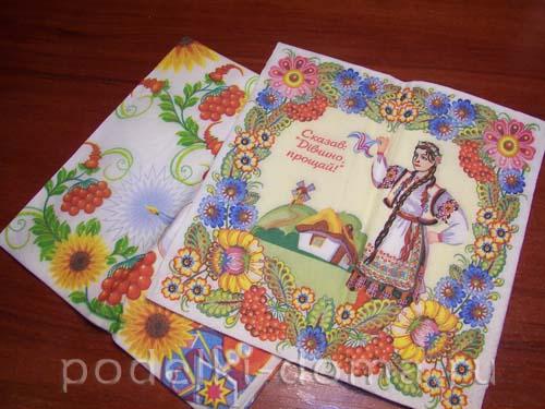 dekupazh butylki ukrainskiy domik12
