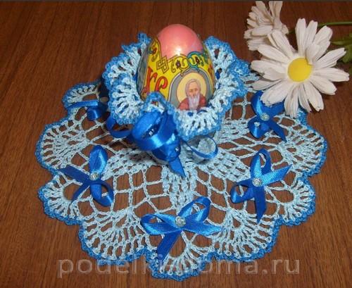 вязаная подставка под яйцо