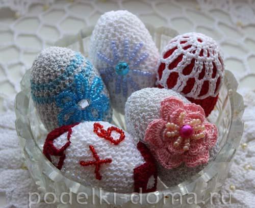 Пасхальные яйца крючком-МК Юлии Лебедевой