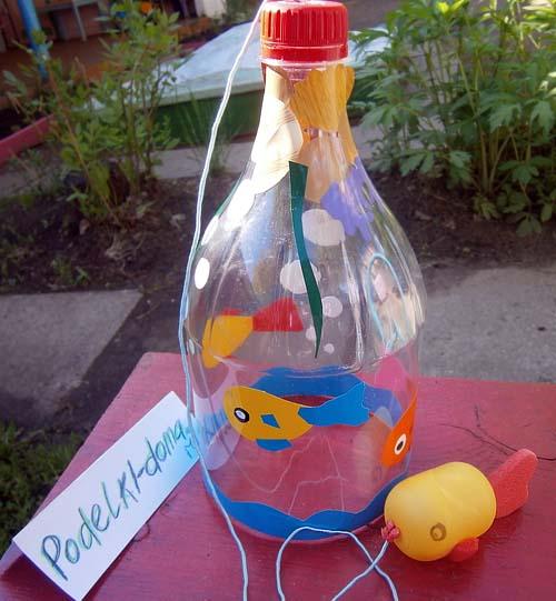 Поделки из пластиковых бутылок для детей детского сада 13