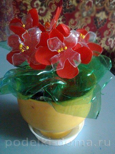 цветы из пластиковых бутылок04