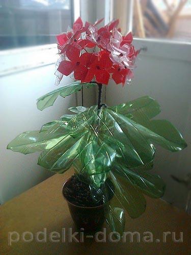 цветы из пластиковых бутылок15