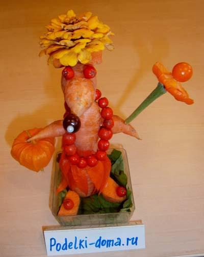 Поделки из овощей и фруктов. Морковь