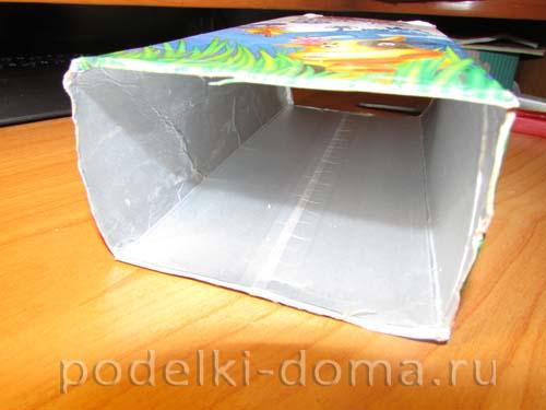 Как сделать шкатулку из коробки из сока