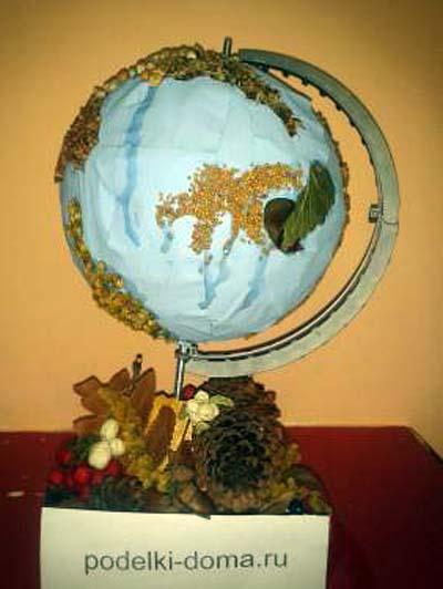 globus prirodny material