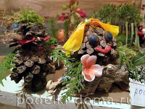 podelka prirodniy material shishki1