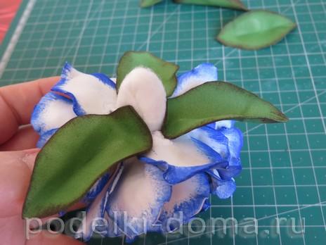 elochny shar cvetok iz foamirana22