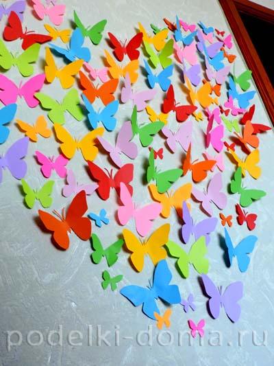 Бабочки из бумаги для украшения зала своими руками 35