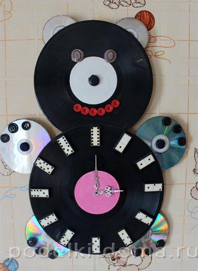 Поделка из диски музыкальных