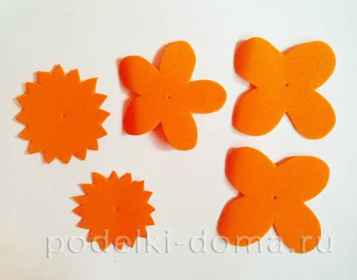 cvety ogonki iz foamirana 2