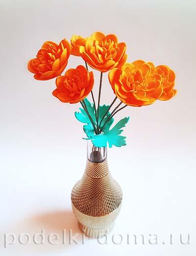 cvety ogonki iz foamirana