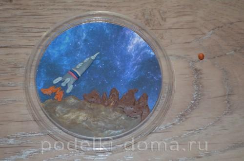 магнит космос пластилин14