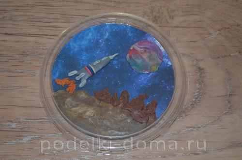 магнит космос пластилин16