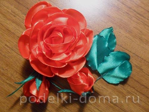 zakolka roza iz atlasnoy lenty27