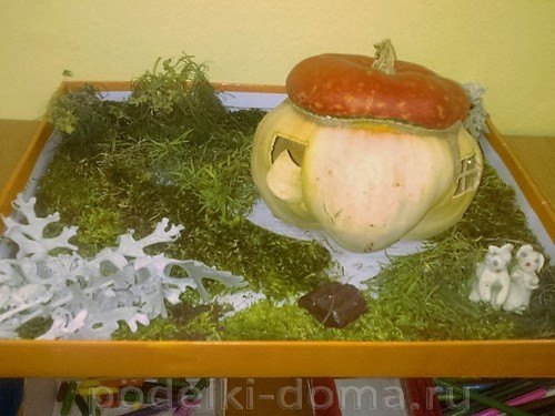 мышкин домик из тыквы