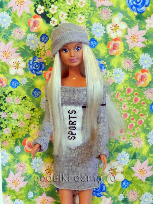 75b1b100f12 Как сшить платье для куклы Барби из носка